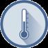 Ein rundes Icon. In der Mitte ist ein Temperaturfühler dargestellt.